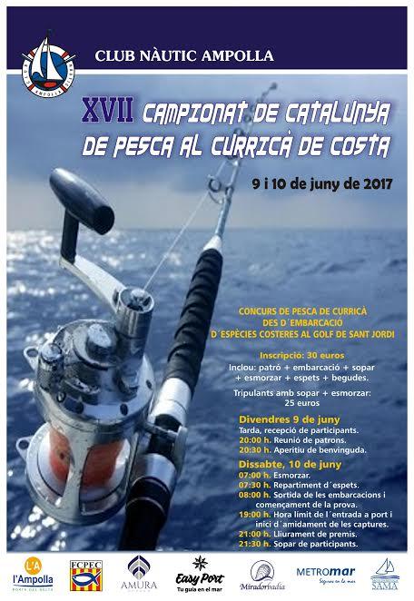 12 embarcaciones se darán cita este sábado en el XVII Campeonato de Cataluña de Pesca al Curricán de Costa
